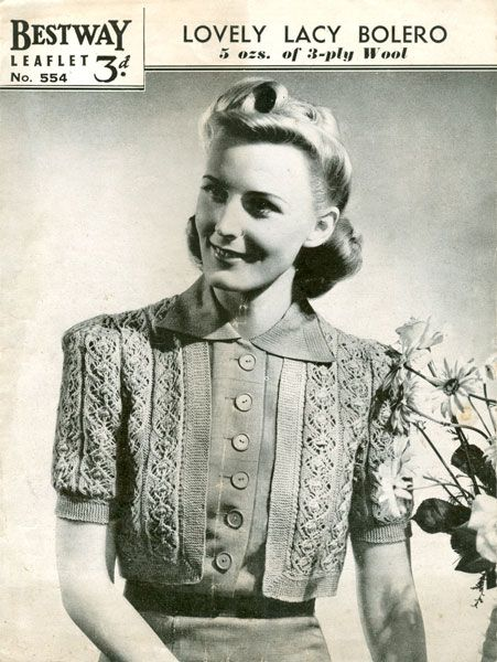 Lacy bolero 40s knitting