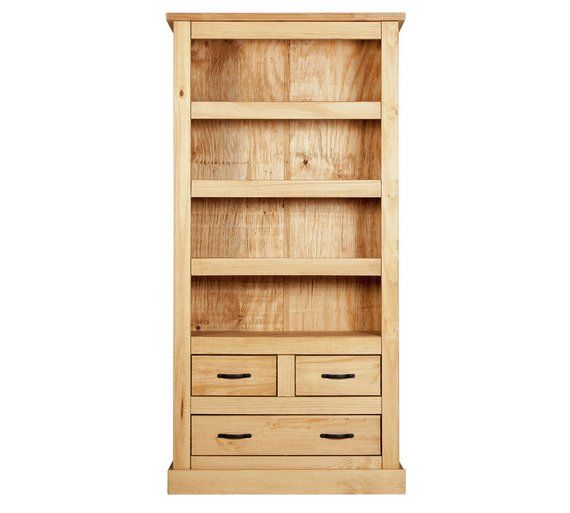Home San Go 3 Shelf Drawer Solid Pine Bookcase At Argos Co