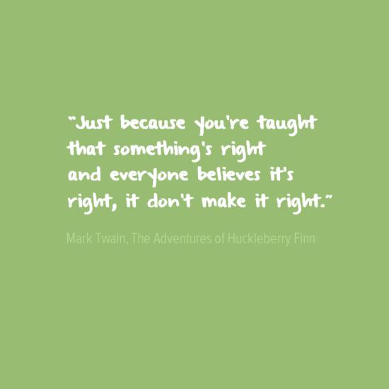 mark twain irony