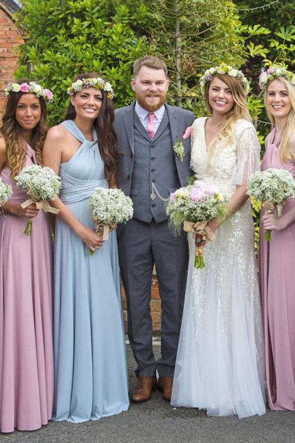 d402c1eba5 Mix n Match bridesmaids in Dove Grey   Dusky Pink available at  www.willowandpearl.co.uk