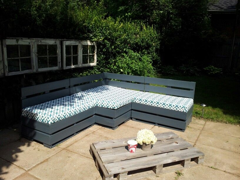 Nice Our DIY Skid Patio Furniture. More Work Then We Initially Thought But Worth  It!