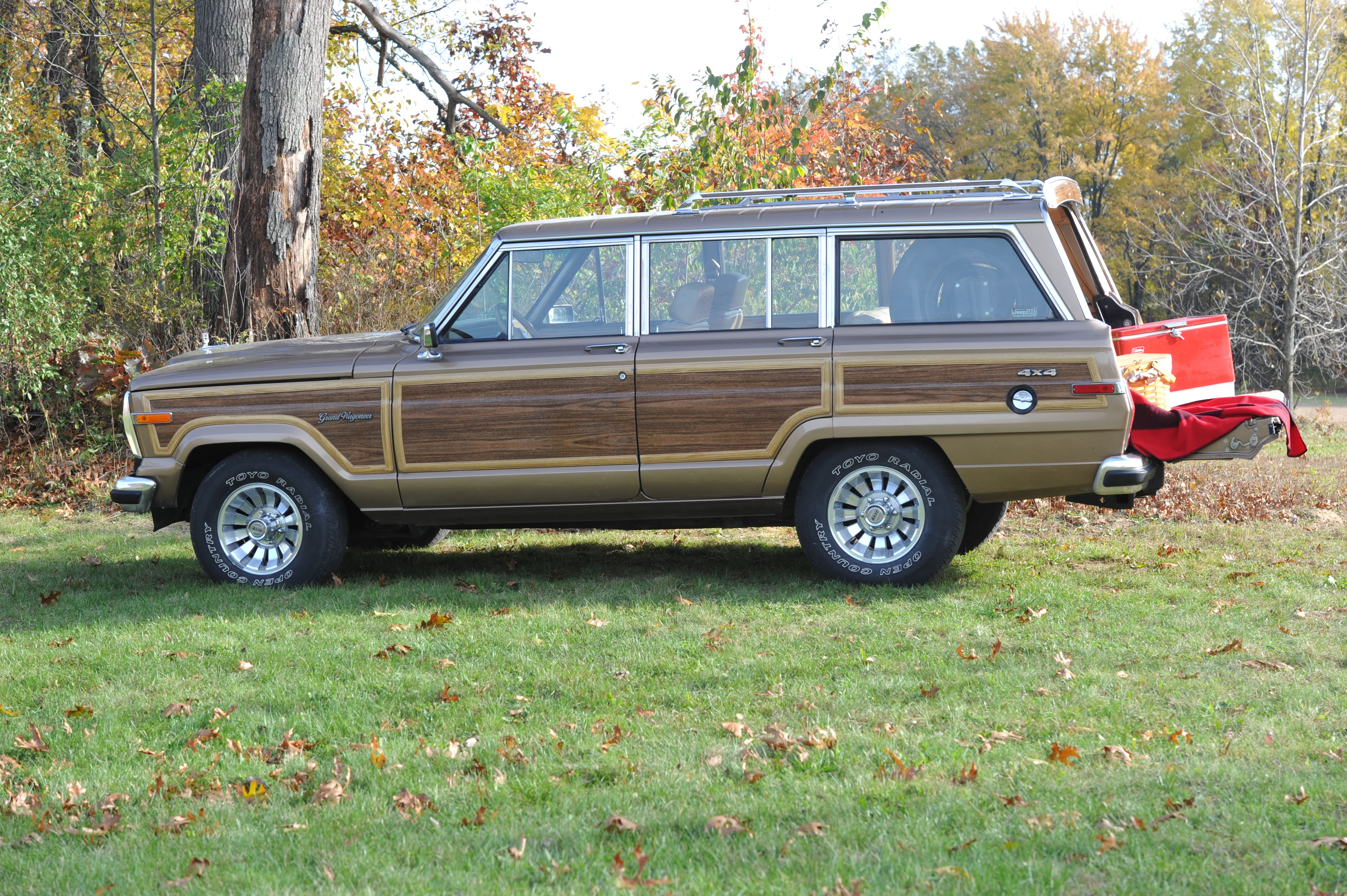 "Our 1988 Jeep Grand Wagoneer named ""Woody"" Wagoneer"