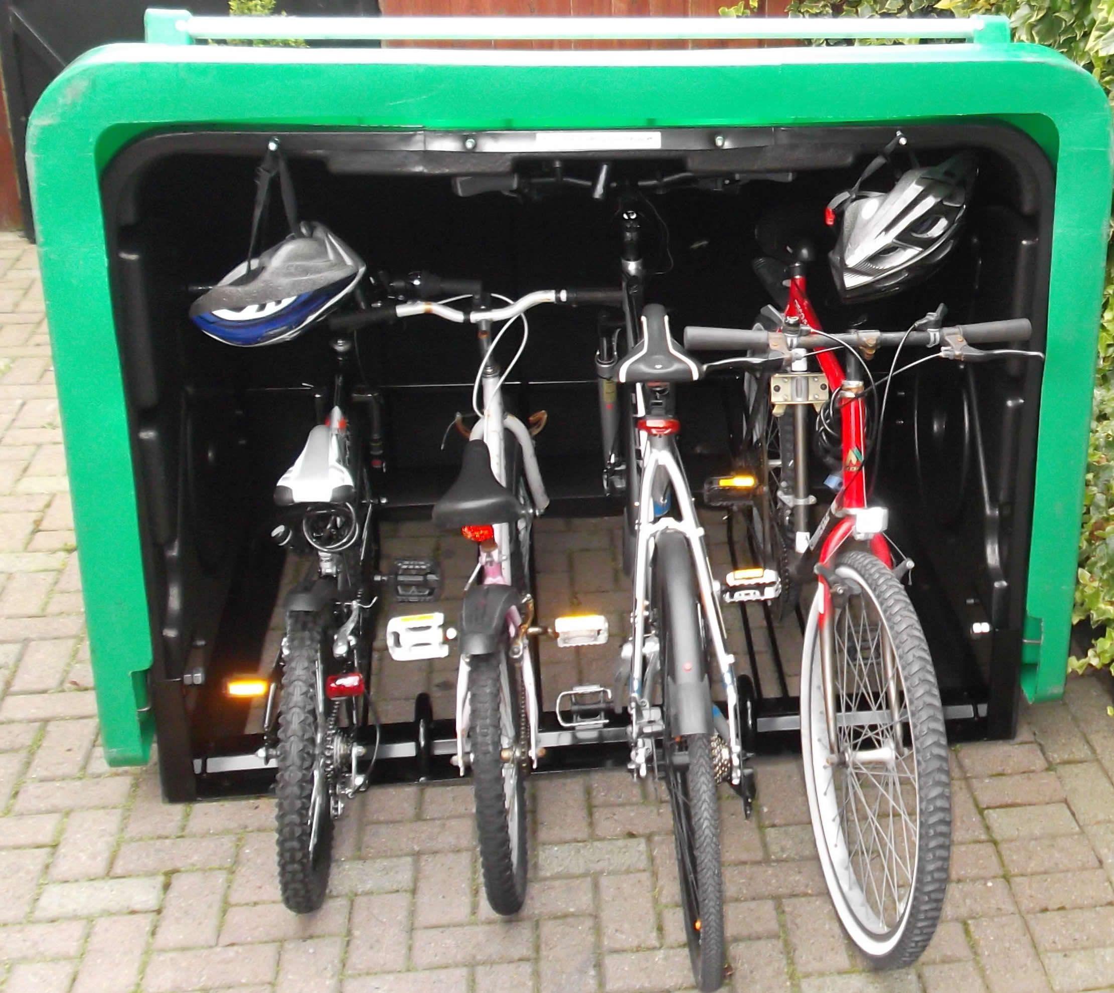 backyard bicycle rack in the garden bicycle storage bike rh pinterest es