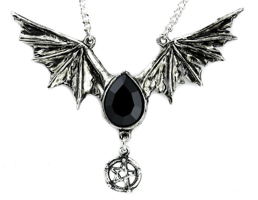 Black swarovski stone bat wing necklace vampire pendant gtico black swarovski stone bat wing necklace vampire pendant aloadofball Images