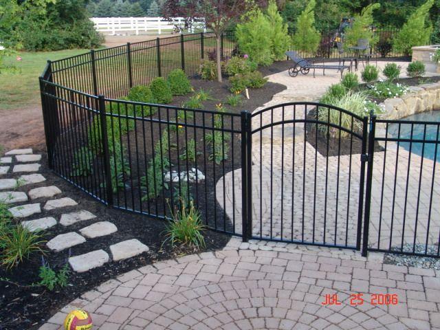 Fence Installation Design Llc Inground Pool Landscaping Pool Fencing Landscaping Backyard Pool Landscaping