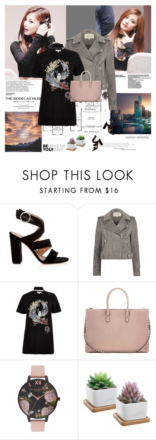 """""""Don't quit your day dream.."""" by rainie-minnie ❤ liked on Polyvore featuring Hedi Slimane, Rene, Gianvito Rossi, River Island, Valentino and Olivia Burton"""