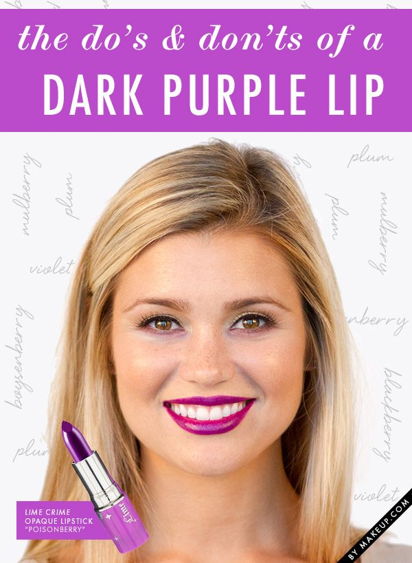 Dark lipstick is one of our favorite makeup looks. We love looking at different colors and tutorials to try. But there are some things you shouldn't do when it comes to this look. Follow these tips!