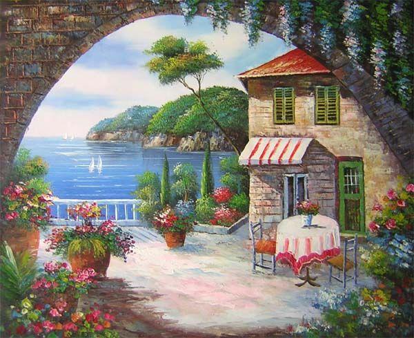 Yağlı Boya Manzara Resmi Resim Paiting Painting Art Ve Canvas
