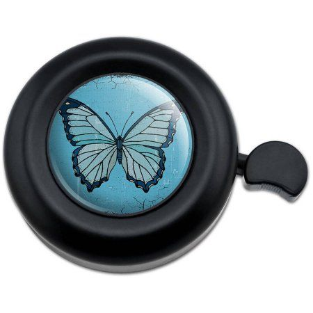 Butterfly Artsy Blue Bicycle Handlebar Bike Bell
