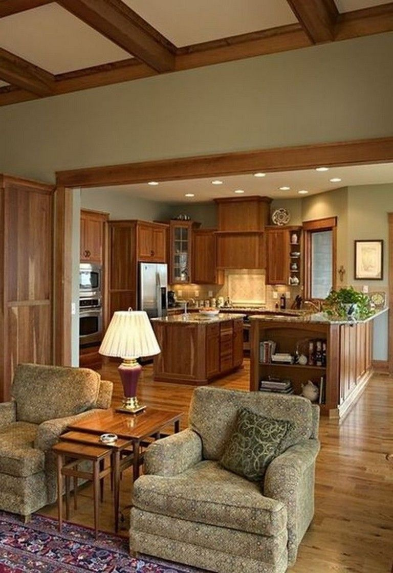 35 Attractive Living Room Design Ideas: 35+ Beautiful Kitchen Paint Colors Ideas With Oak Cabinet