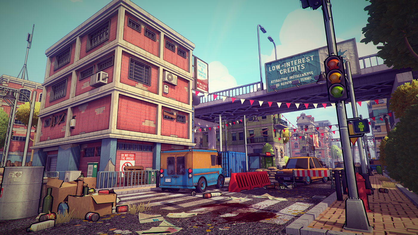 3d Unity 5 Postapocalyptic City Pack - Assets | Low Poly