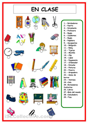 Materiales escolares | SPANISH Learning | Learning spanish, Spanish ...
