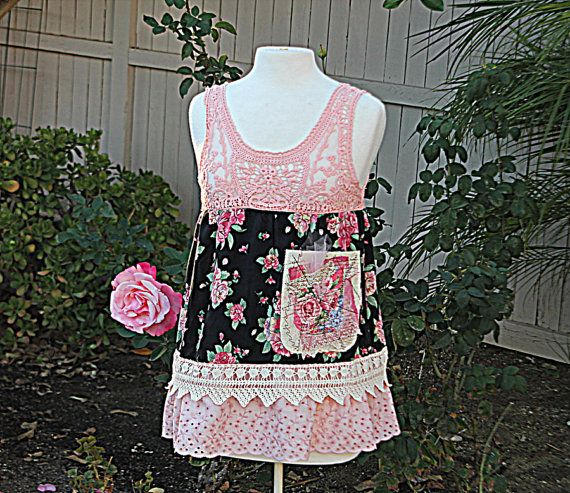 Upcycled Womens Clothing Shabby Chic By AmadiSloanDesigns 5700