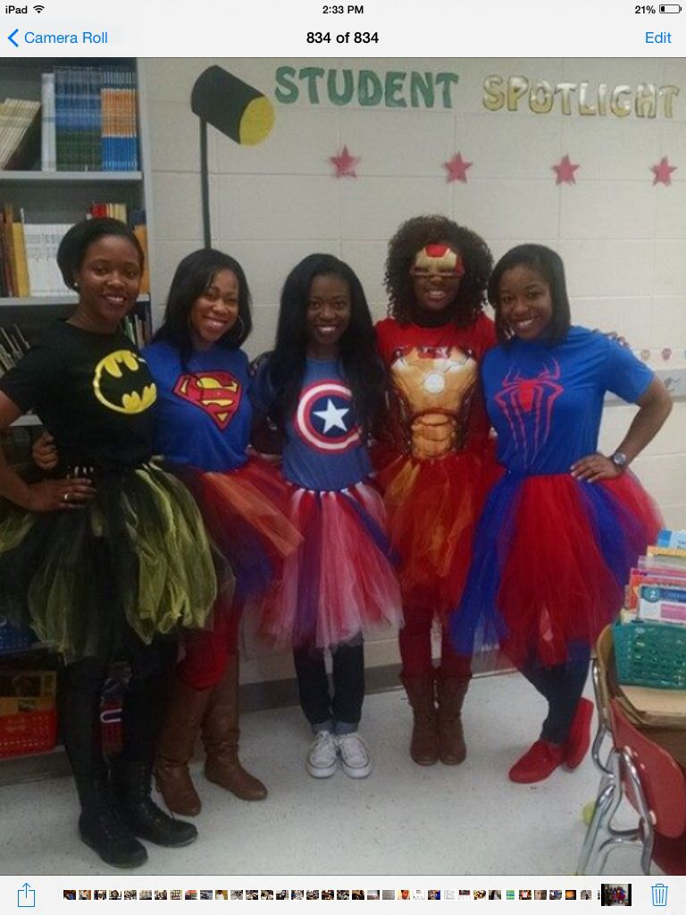 Classroom Dress Up Ideas ~ Teacher costumes superheroes with tutus teaching ideas