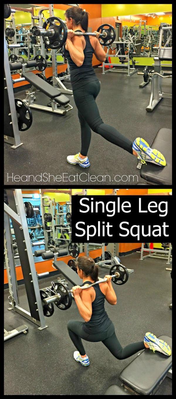 Weight Training for Women - Single Leg Split Squat #fitness #workout #legday #exercise #heandsheeatc...