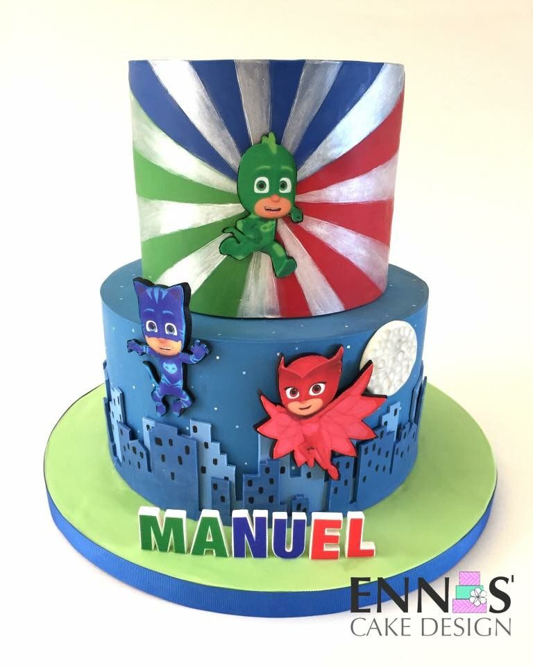 Pj Masks Cake With Images Pj Masks Birthday Cake Pj Masks