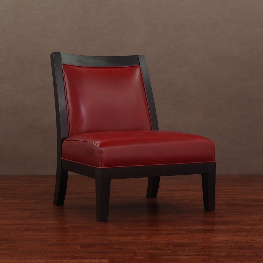 Connor Burnt Red Leather Chair   Overstock™ Shopping   Great Deals On  Living Room Chairs