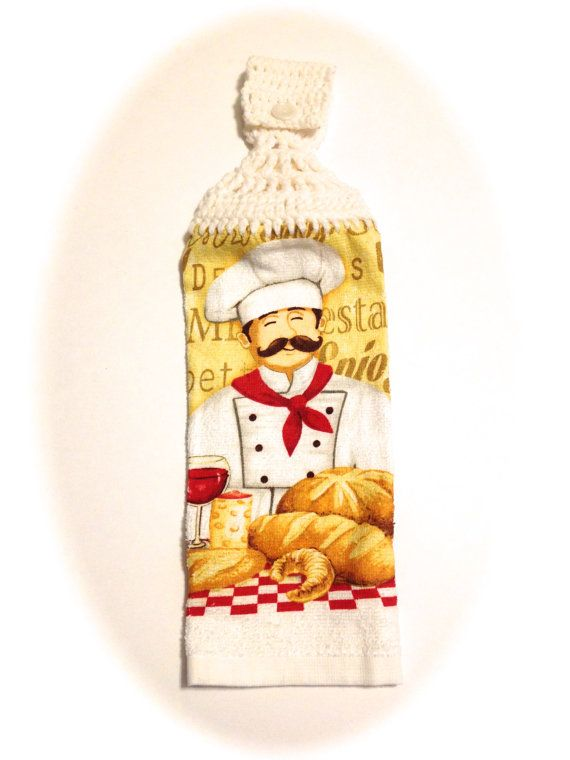 Pastry Bread Chef Hand Towel With White by MeAndMomsCrafts on Etsy