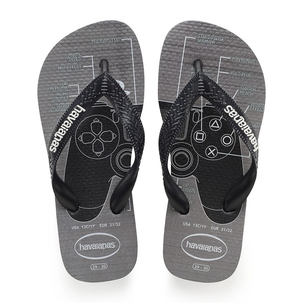20a961d5747e21 Havaianas Kids Playstation Sandal Steel Grey