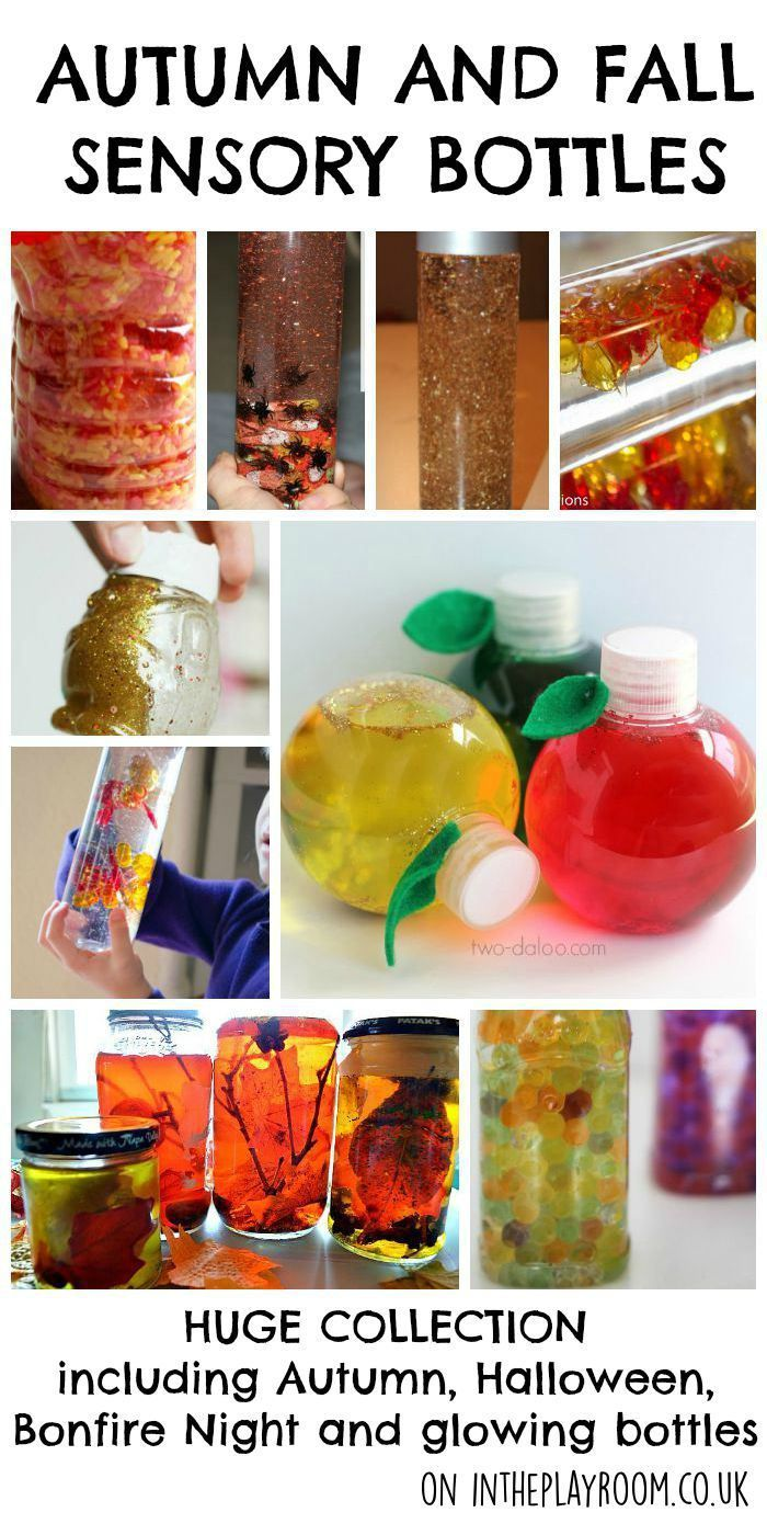 Autumn and Fall Sensory Bottles #fireworkseyfs