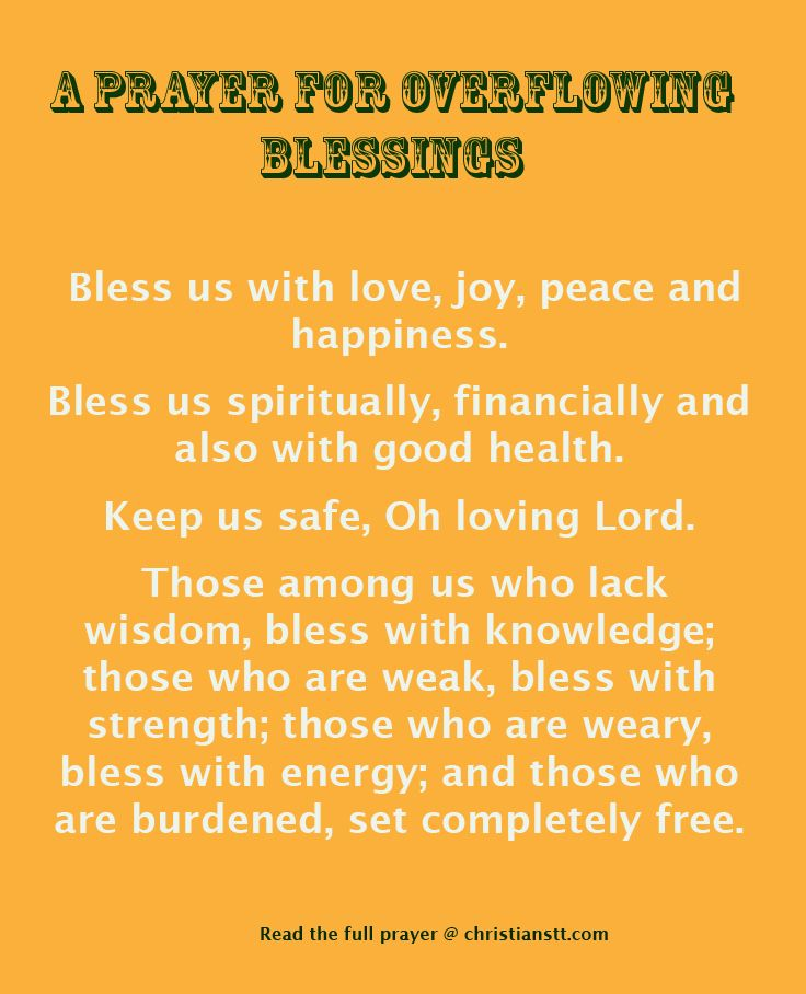 Prayer For Overflowing Blessings With Images Inspirational