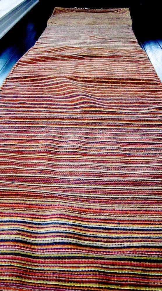 Mexican Rug Large Runner Hand Woven Wool Runner 225 00 Via Etsy