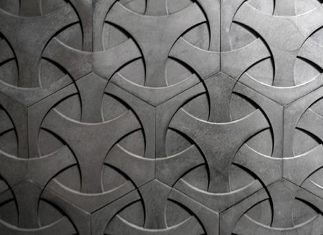 Modern concrete tiles by daniel ogassian betonnen for Cement art design