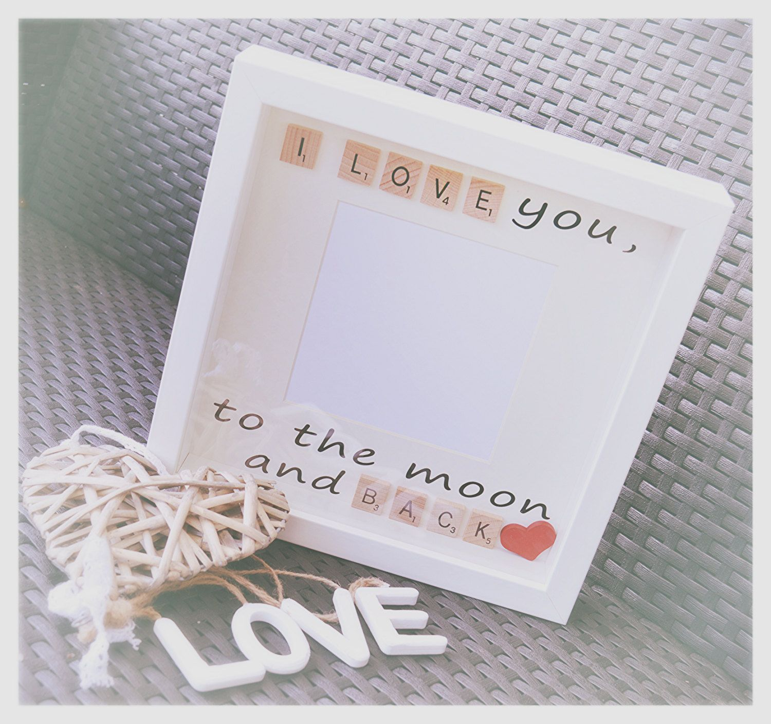 i love you to the moon and back box frame scrabble pictutre scrabble