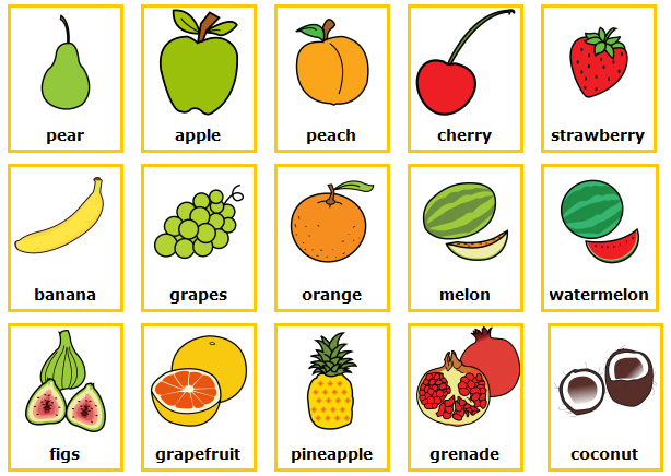 Pin De Leidy Hernandez En Fruits Ingles Para Preescolar Ingles Basico Para Niños Verduras En Ingles