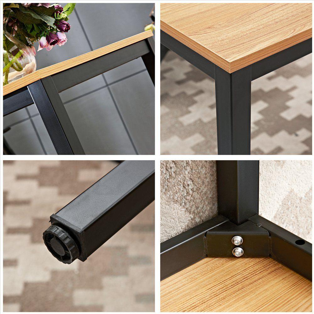 Dland 55 Large Computer Desk Composite Wood Board Decent And