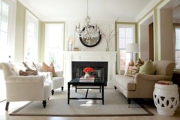 Bright, Airy, & Fresh Transitional Living Room traditional