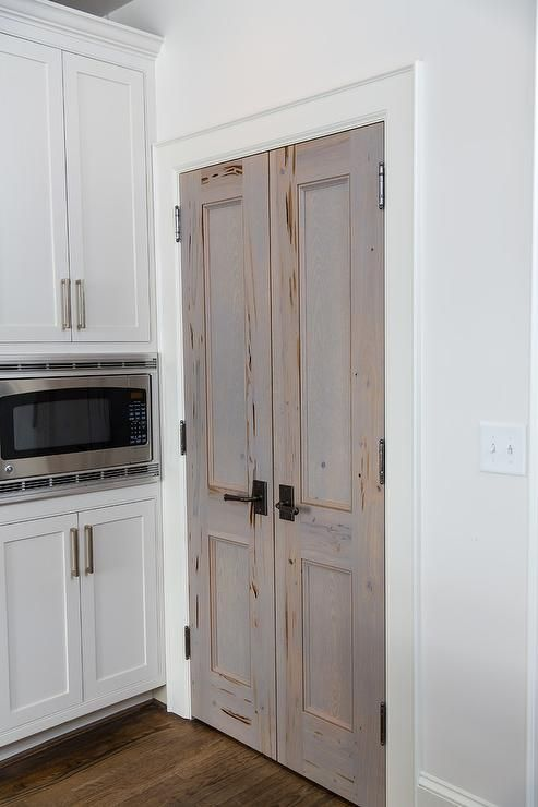 Cypress Bi Fold Pantry Doors Transitional Kitchen