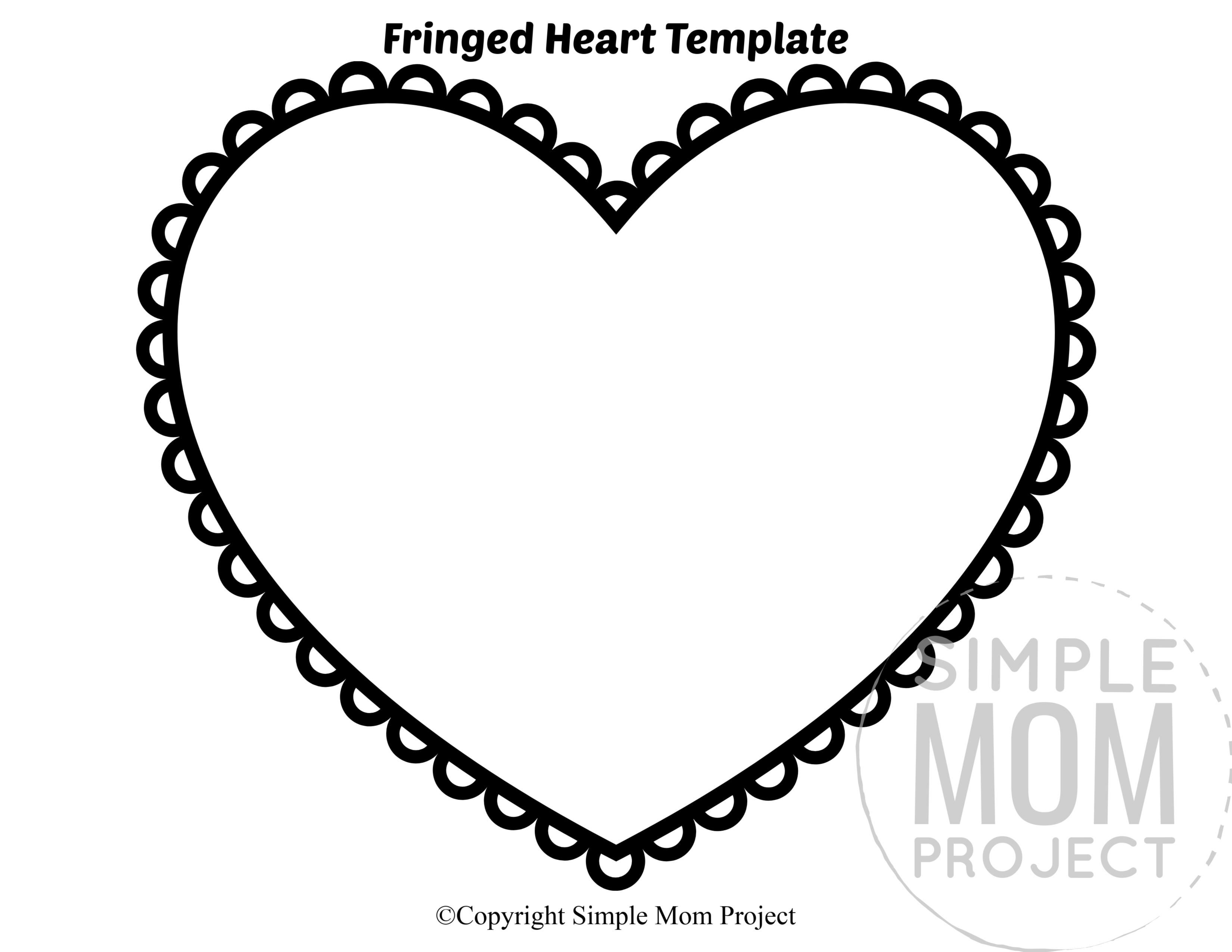 Free Printable Large Heart Shape Templates Heart Shapes Template Heart Template Printable Heart Template