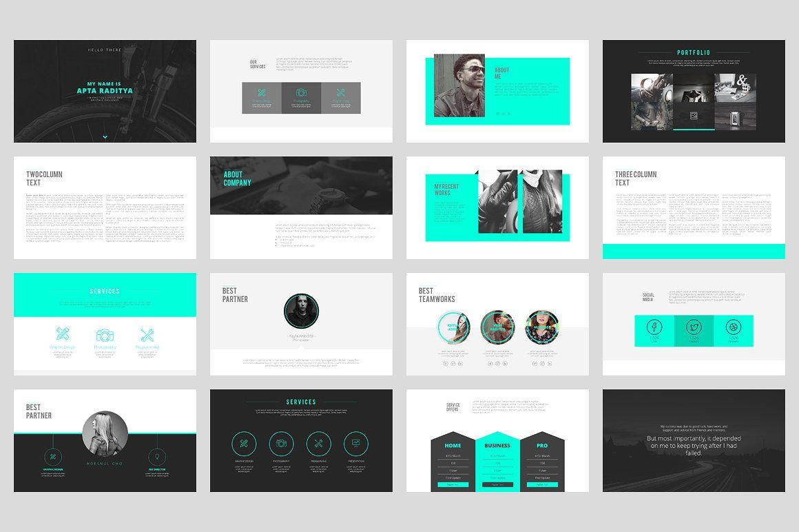 portfolio powerpoint template by angkalimabelas on creativemarket