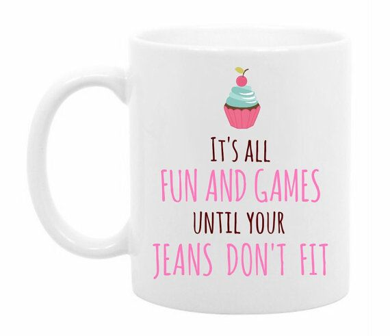Funny Cupcake Coffee Mug  Unique Gift Idea for by TheCoffeeCorner