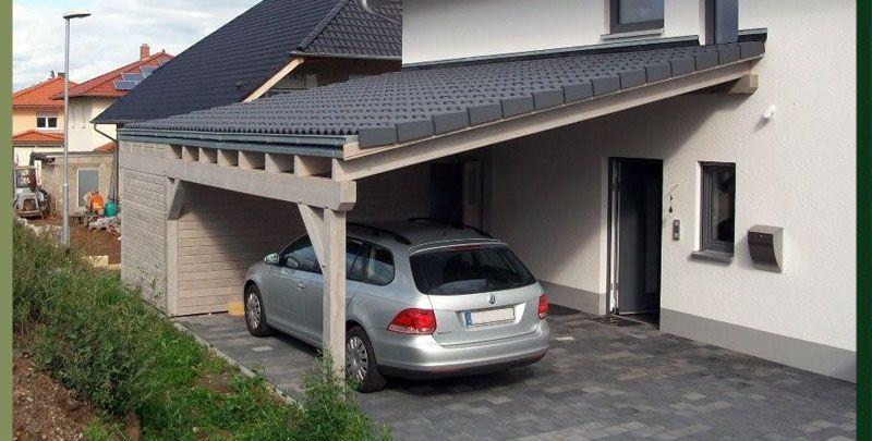 Carport Ziegeldach Google Suche Hauswand Haus Und Garten Carport Mit Schuppen