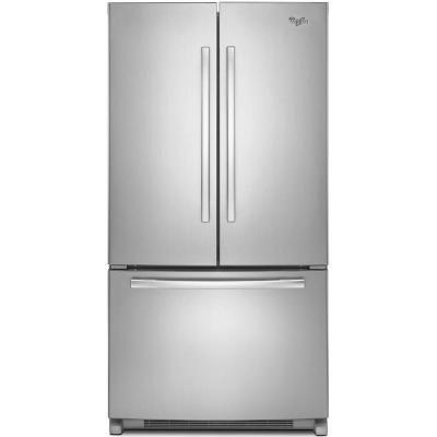 Whirlpool 20 0 Cu Ft French Door Refrigerator In Monoc