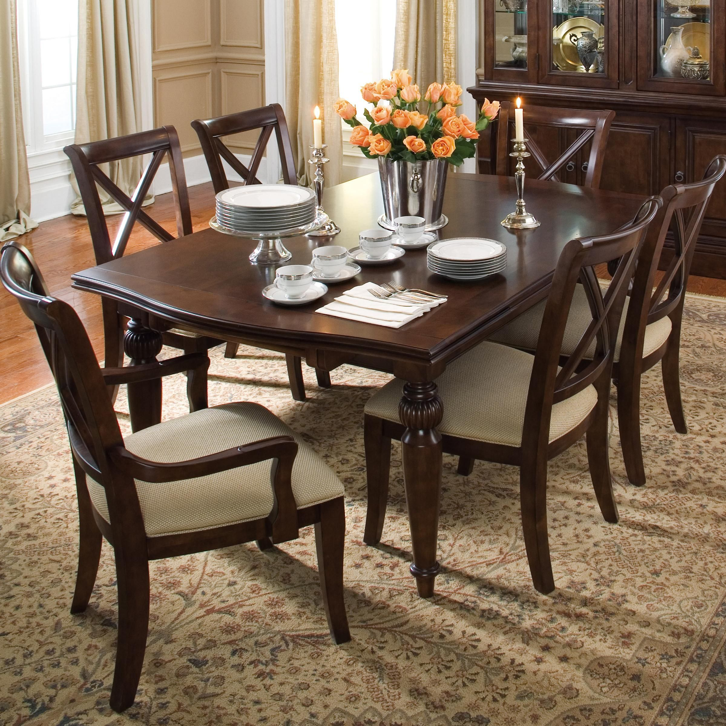 Keswick Refectory Table And Chair Set By Kincaid Furniture Home Decor Rectangular Dining Set Furniture