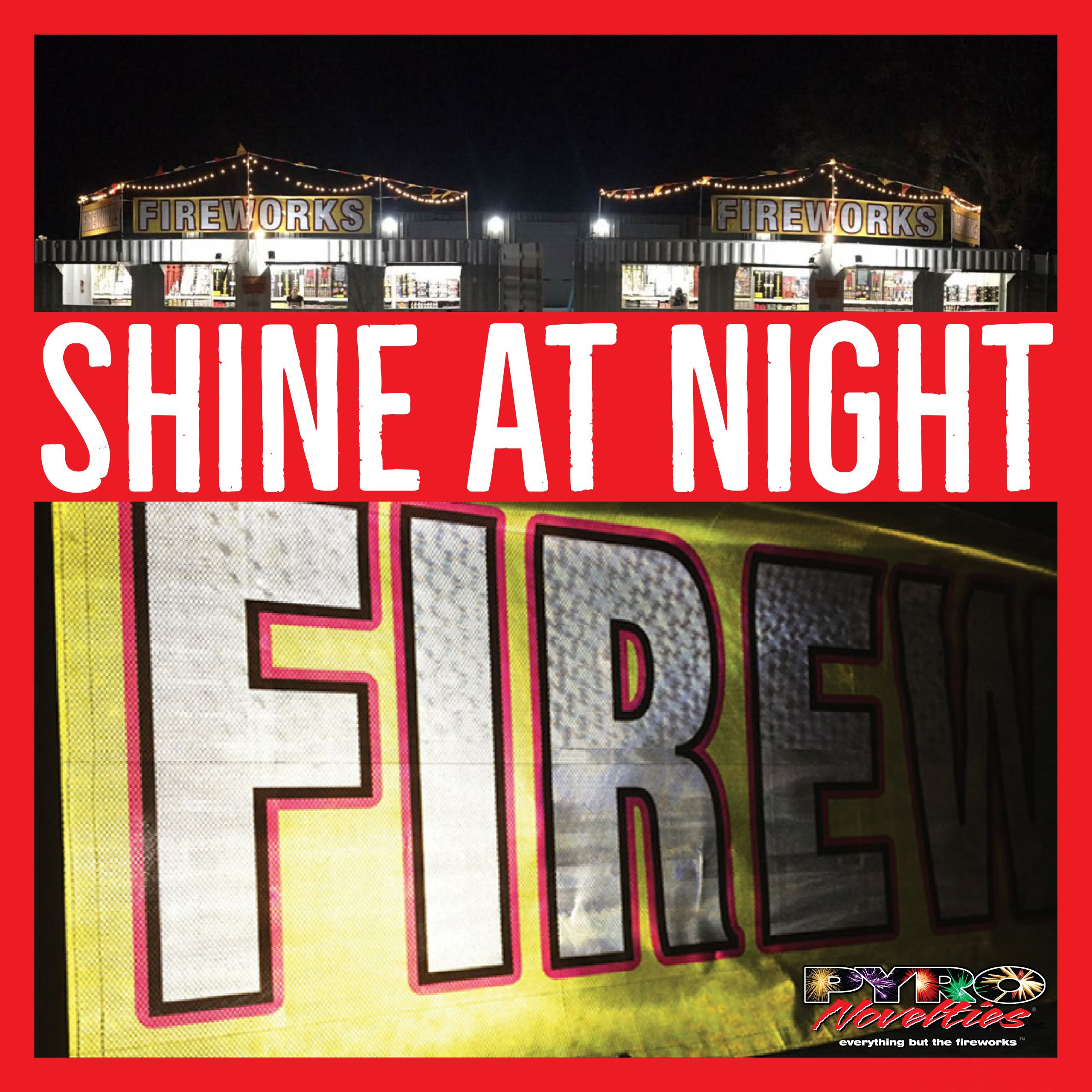 Shine At Night With Our Exclusive 3 X 10 Fireworks Reflective Vinyl Banner 3 X 10 Fireworks Banner Digitally Printed In F Vinyl Banners Fireworks Banner