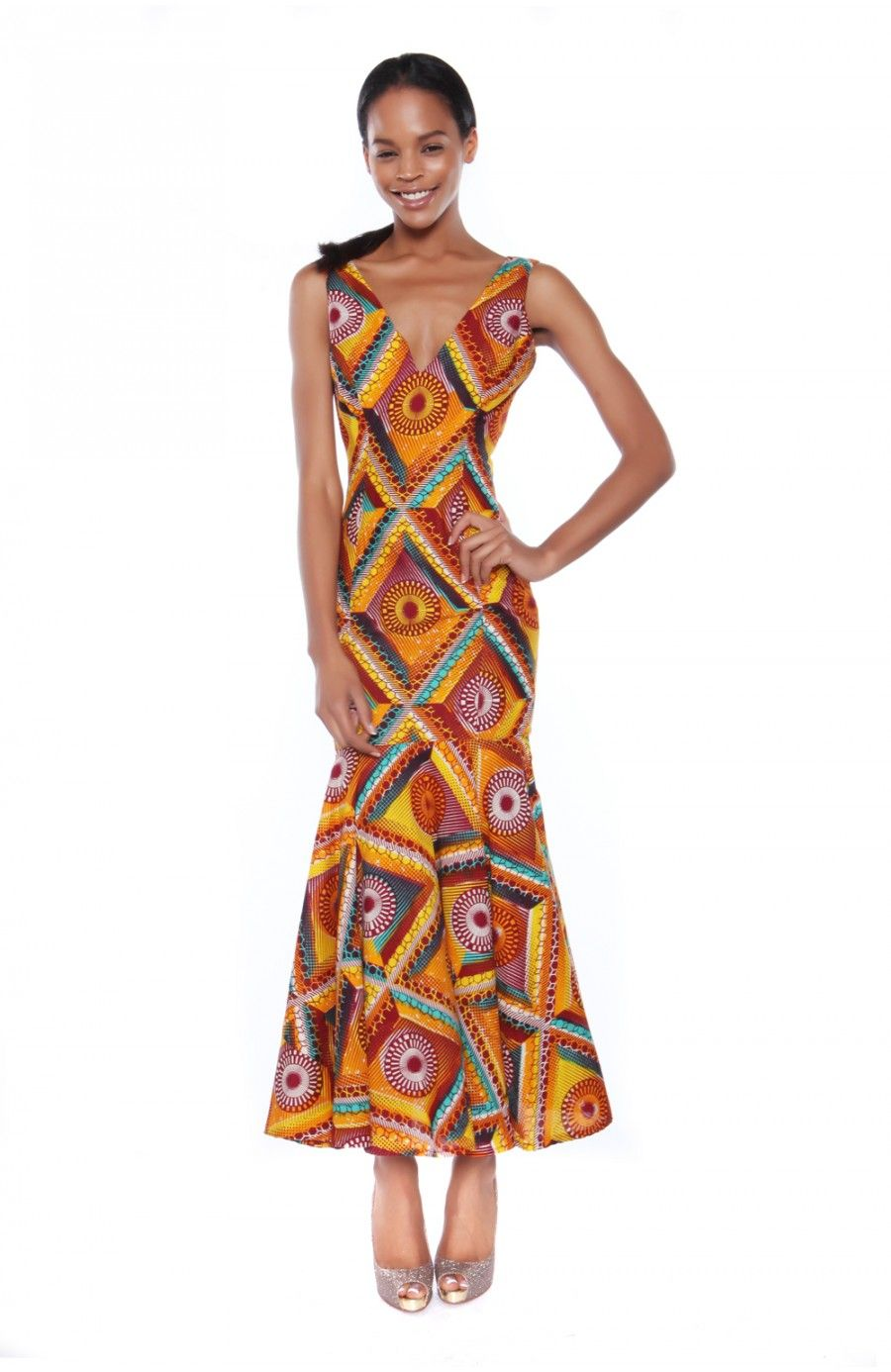 Kekule Maxi Dress in lovely Ankara Print by My Asho Market  #MyAsho #Maxi #MaxiDress #Ankara #AnkaraDress #africanprint #AfricanPrintDress #AfricanWaxPrint #Ghana