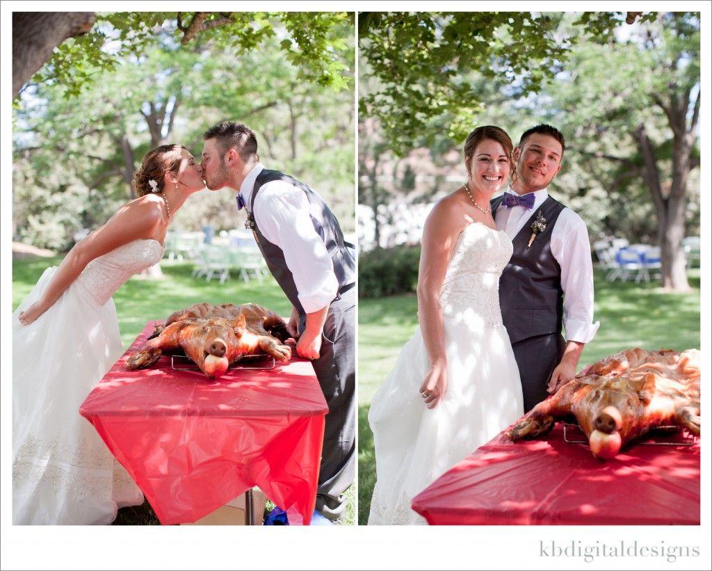 Pig Roast Reception Rustic Wedding Colorado