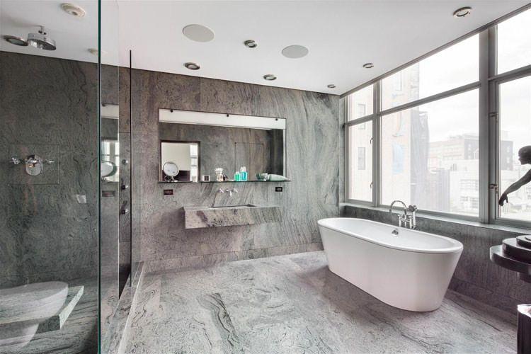 Idee di arredamento bagno in grigio bagni di design
