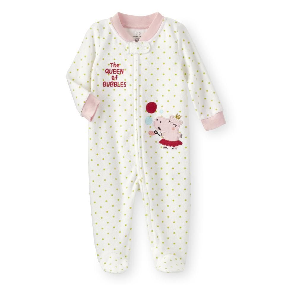 f8f91a7369d1 Koala Kid Baby  Queen of Bubbles  Terry Cloth White Footie Romper Sleeper