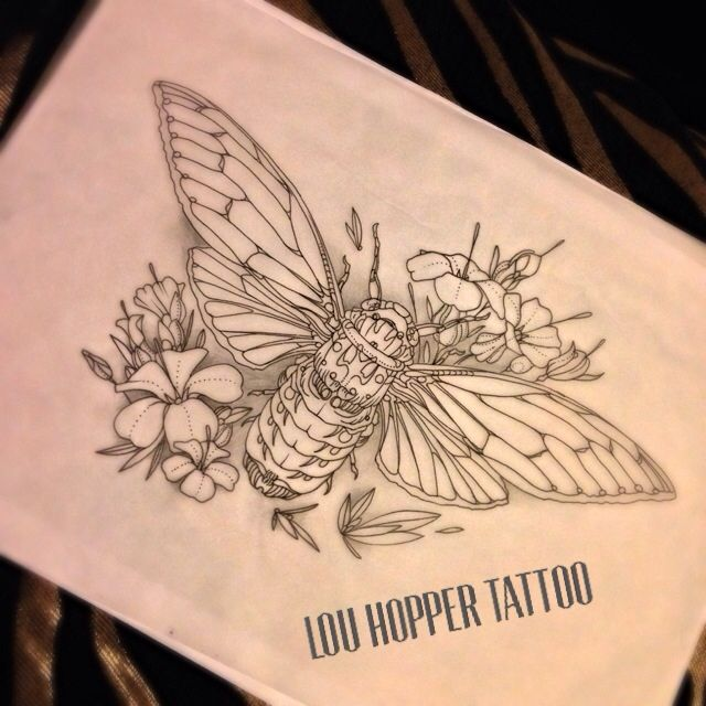 New Cicada Bug Tattoo Design Up For Grabs £210, Please Pm