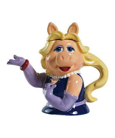This Missy Piggy Teapot is perfect! #zulilyfinds