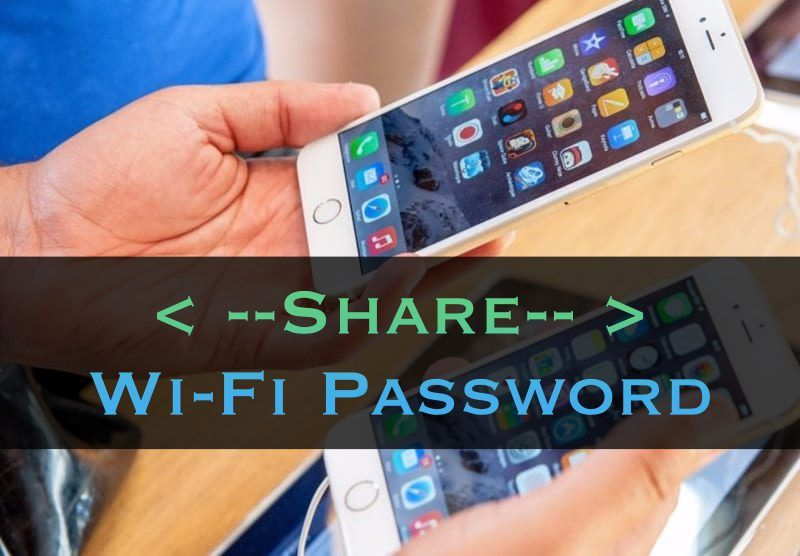 Let's have a look t the guide for How to Share Wifi