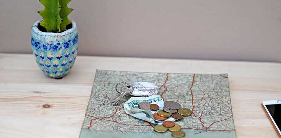 How To Make A Personalized Map Decoupage Glass Tray