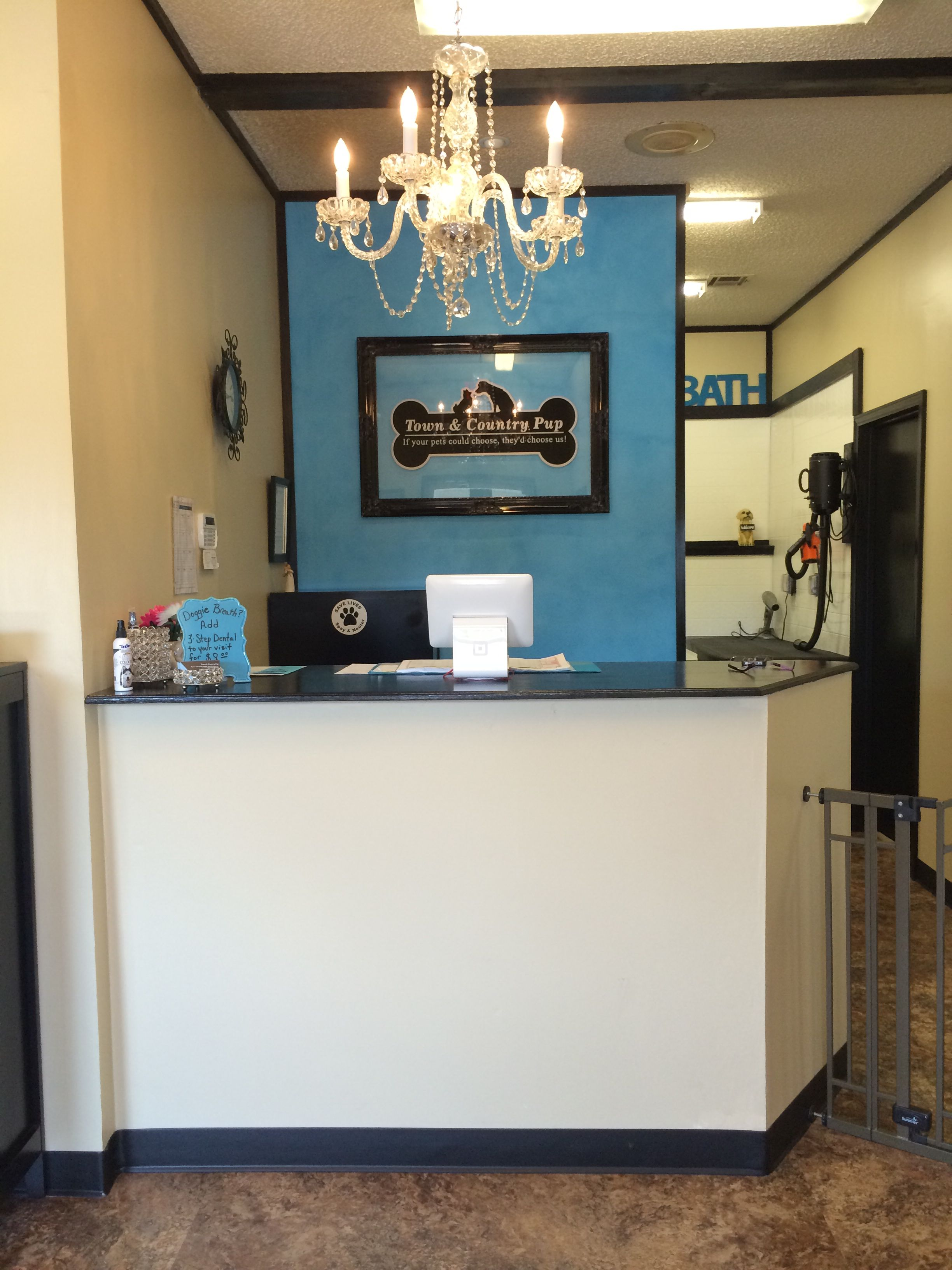 RepinnedTown & Country Pup's front desk. Muskogee