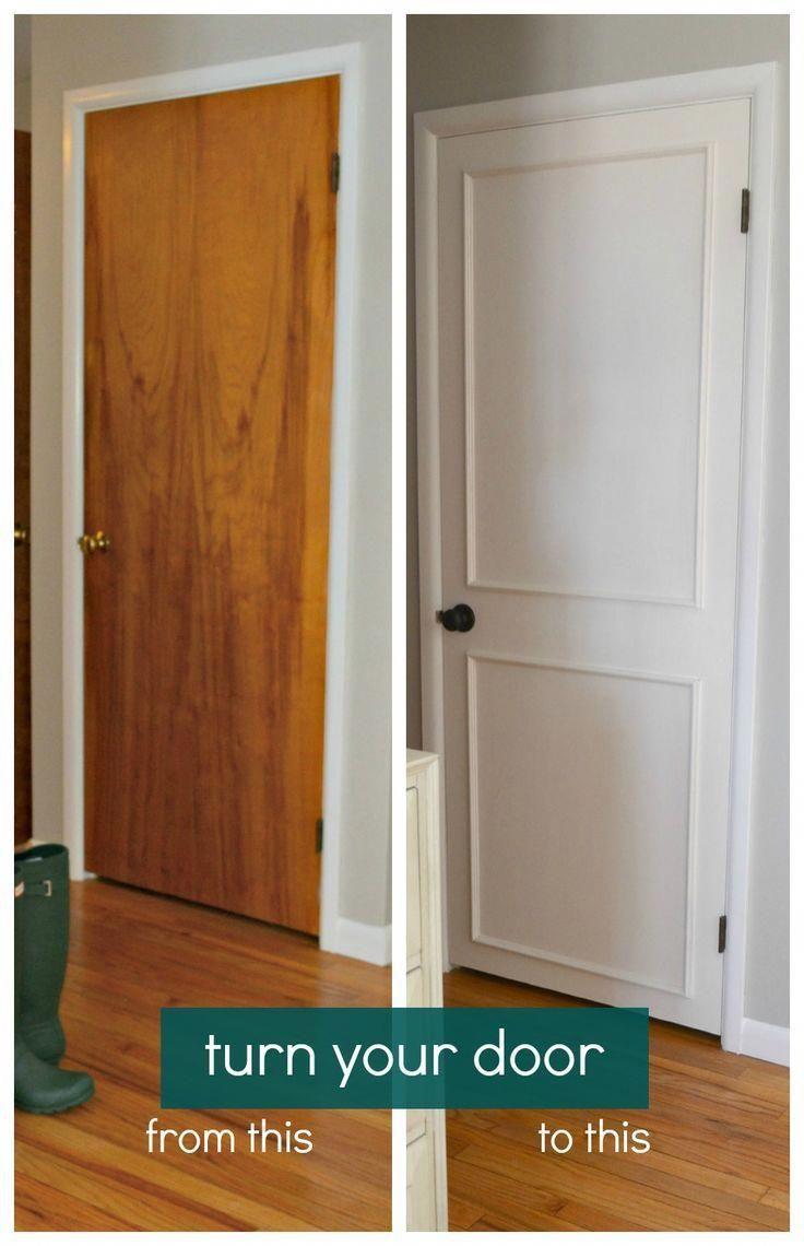 Diy turn old hollow doors into white paneled doors quick