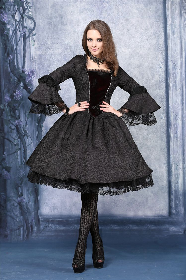 Dark In Love Victorian Gothic Dress - Click to enlarge